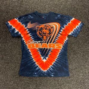 Majestic NFL Chicago Bears Orange Tie Dye Shirt L